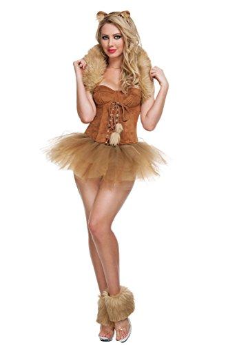 Sexy Halloween Costomes (Khaki Pretty Womens Sexy Wizard of Oz Halloween Cat Costume)