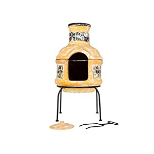 La Hacienda Circles Clay Chiminea