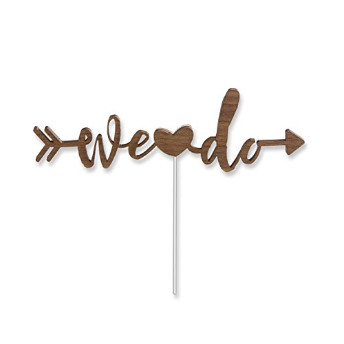 Kate Aspen We Do Cake Topper, Brown