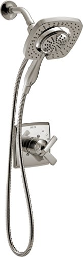 - Delta Faucet Ashlyn 17 Series Dual-Function Shower Trim Kit with 2-Spray Touch-Clean In2ition 2-in-1 Hand Held Shower Head with Hose, Stainless T17264-SS-I (Valve Not Included)