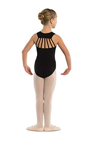 DanzNmotion by Danshuz Girl's Straps Leotard 8-10 Black