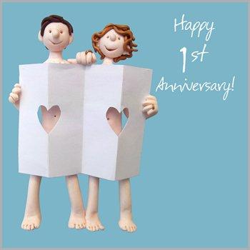 1st wedding anniversary cards