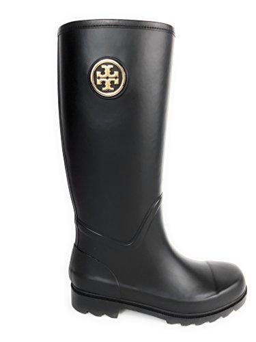 90b7926ba23b ... riding boot flat 7.5 black e65a5 b9b6d ebay tory burch sarah rainboot  rubber veg leather black 8 62857 da0a1 ...