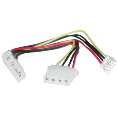 8 inch, 4 Pin Molex to Floppy and 4 Pin Molex, Power Y Cable ( 20 PACK ) BY NETCNA by NETCNA (Image #1)