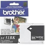 Fax2480c Inkjet Printers - BRTLC51BK - Brother Black Inkjet Cartridge for MFC-240C Multi-Function Printer
