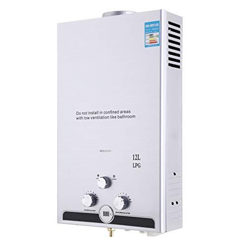 Z ZELUS 12L Calentador de Agua LPG Calentador de Agua Instantaneo 24KW Calentador de Agua de Gas Licuado de Petroleo sin Tanque (12L)