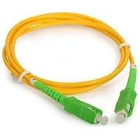 SuperShopperIndia Simplex Single Mode SC to SC Optical Fiber Patch Cord 9/125 Jumper Cable 5 Meters 15 ft (SC/APC - SC/APC)
