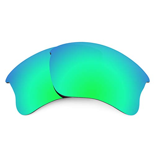 Revant Polarized Replacement Lenses for Oakley Flak Jacket XLJ Elite Rogue Green ()