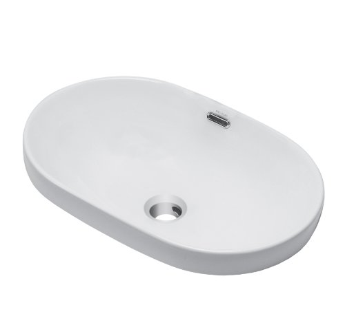 DECOLAV 1456-CWH Ava Classically Redefined Oval Semi-Recessed Lavatory Sink, White by Decolav