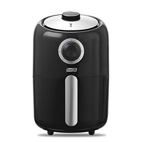 Hot Air Cooking (Dash Compact Air Fryer 1.2 L Electric Air Fryer Oven Cooker with Temperature Control, Non Stick Fry Basket, Recipe Guide + Auto Shut off Feature - Black)