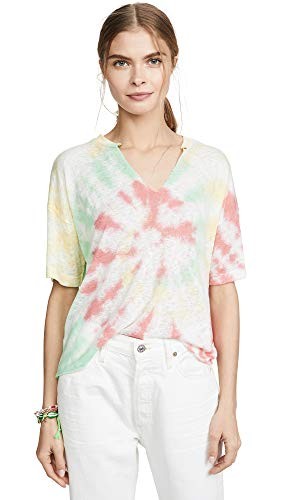 LNA Women's Novia V Neck Tee, Tie Dye, Print, Medium ()