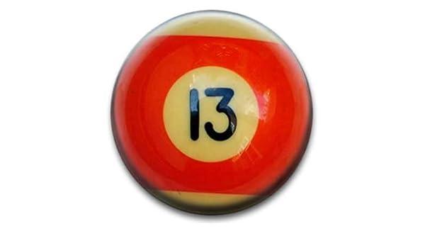 Bolas de billar número 13 Badge: Amazon.es: Hogar