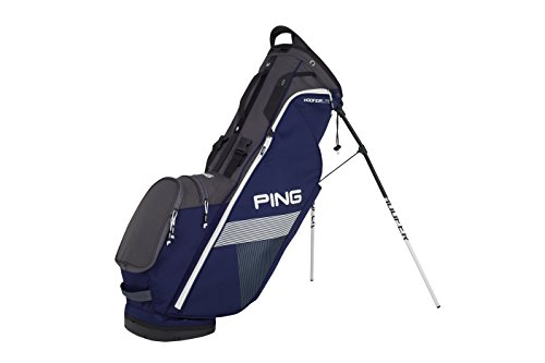 Ping 2018 Hoofer Lite Carry Stand Golf Bag, Navy/Graphite/White