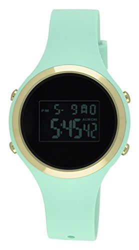 Moulin Ladies Pastel Color Digital Jelly Watch Mint #03158-76625 (Watches Women Jelly compare prices)