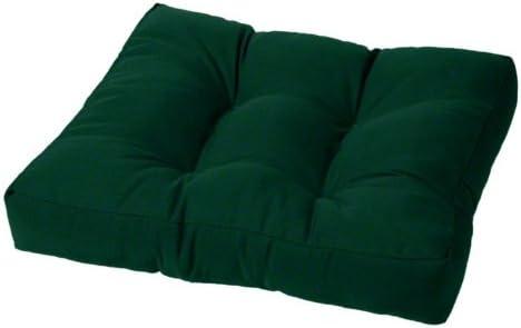 24 x 20 x 4 Tufted Sunbrella Ottoman Cushion Sunbrella Forest Green