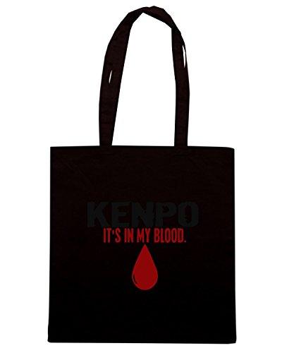 T-Shirtshock - Bolsa para la compra TAM0058 In My Blood (Kenpo) T-Shirt Negro