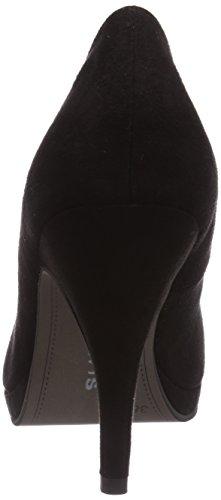 Tamaris 22432 - zapatos de tacón cerrados de lona mujer negro - negro