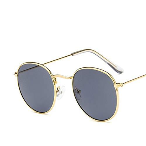 NIFG sol borde de de gafas vintage redondo de de metal sol marco Gafas de rqF4wr