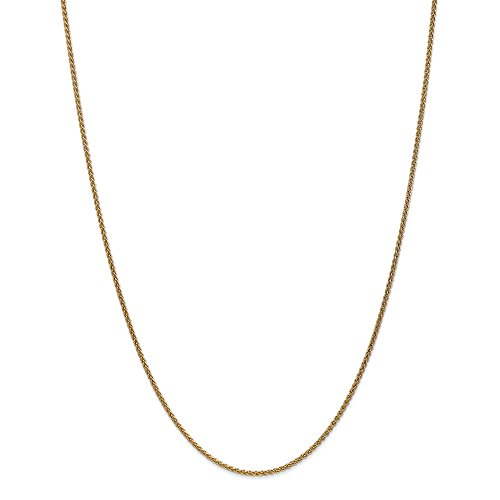 Perfect Jewelry Gift 14k 1.65mm Solid Polished Spiga Chain