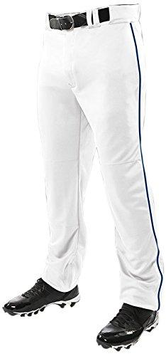 ChamproメンズTriple Crown Open Bottom Piped Pants B01BHF9JIU L|White|Navy White|Navy L