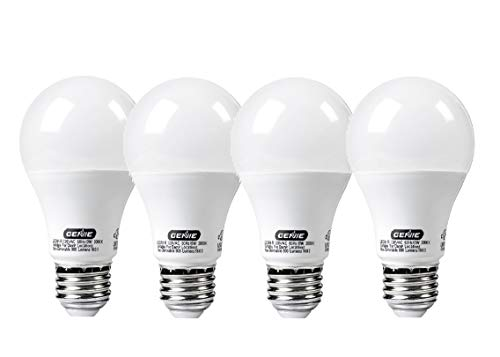 Genie LED Garage Door Opener Light Bulb - 60 Watt (800 Lumens) - Made to Minimize Interference with Garage Door Openers (Compatible with All Major Garage Door Opener Brands) - LEDB1-R (4 Pack)