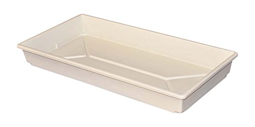 MFG Tray 1105085232 Toteline Nesting Container, Seed Tray, Glass Fiber Reinforce Plastic Composite, 21.5'' x 11'' x 2.5'', White