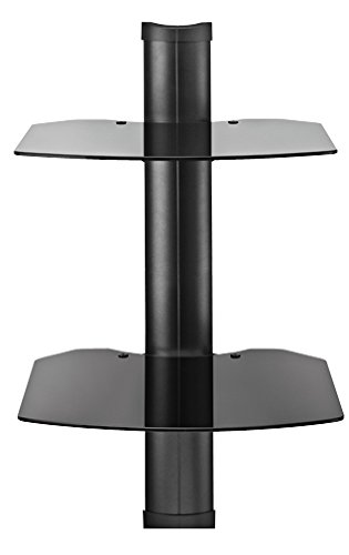 Omnimount TRIA2B Shelf Wall System, Black