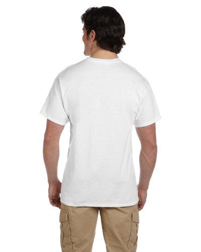 - Hanes Men's ComfortBlend EcoSmart Crewneck T-Shirt, L-White