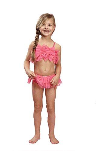 Mud Pie Mesh Ruffle Bikini (3T)