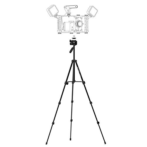 Super Lightweight Video Tripod DREAMGRIP 136EX-41 Universal Set with Original Track Connector for Mounting Rigs, Compatible for Any Smartphone (iPhone, Samsung, Pixel), and Any Action Camera or DSLR