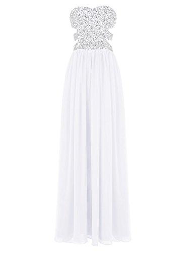 Beaded Lang Black 2016 Damen Kleider Chiffon Out Ball Fanciest White Waist Cut Sexy 0nBCFwXq