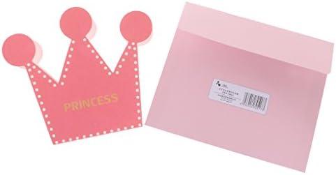 10pcs Tarjeta de Felicitación de Cumpleaños con Sobre de Regalos Diseño con Princesa/Príncipe Tarjeta de Invitación de Papel - Rosado