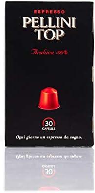 Pellini Caffè 329050169 Espresso Pellini Top Arabica 100%, Compatibili Nespresso, Astuccio da 30 Capsule