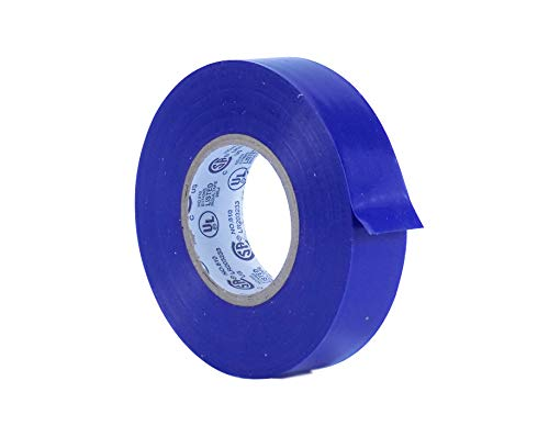 WOD EL-766AW Professional Grade General Purpose Blue Electrical Tape UL/CSA listed core. Utility Vinyl Rubber Adhesive Electrical Tape: 3/4in. X 66ft. - Use At No More Than 600V & 176F (Pack of 1)