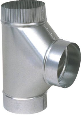 Imperial Mfg Group Usa GV0899 Stove Pipe Fitting, HVAC Galvanized Tee, 8 x 8 x 8-In. - Quantity 5