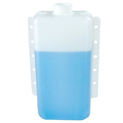 5 Quart Natural High Density Polyethylene Tank w/Mounting Tabs 12.625'' L x 8.50'' W x 4.25'' H (2.25'' Neck)