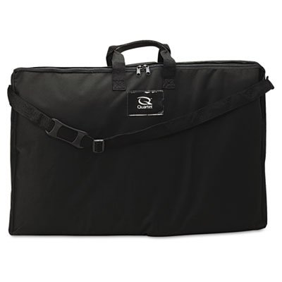 Sturdy canvas. - QUARTET MFG. Tabletop Display Carrying Case, Canvas, 18 1/2w x 2 3/4d x 30h, Black