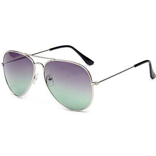15dcbd12584 Awerise Two Tone Aviator Unisex Sunglasses UV400 Protection (Silver Frame