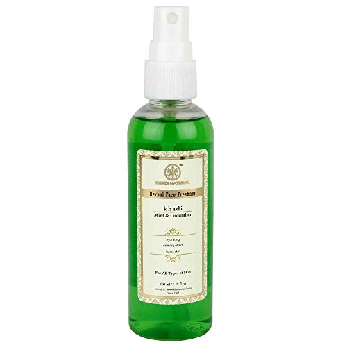 Khadi Natural Herbal Mint and Cucumber Face Spray (100 ml)