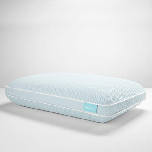 TEMPUR-ProForm + Cooling ProHi Pillow, Memory Foam, Queen, 5-Year Limited Warranty