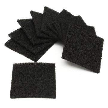 Active Carbon Copy Spume - 10pcs Square Activated Carbon Foam Sponge Air Filter Pad Set Absorber - Excited Paper Effervesce Treated