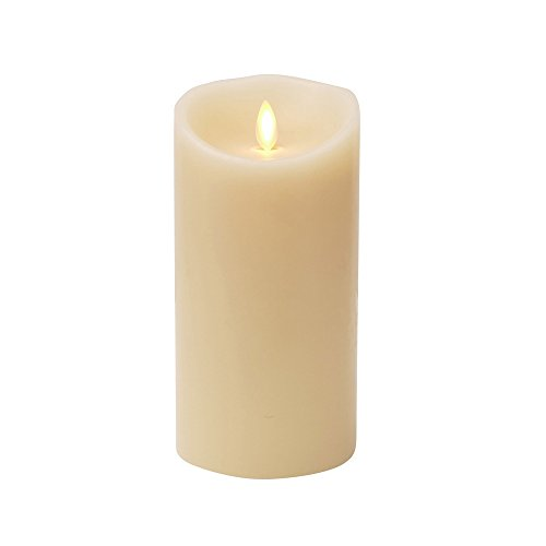 Ksperway LED Moving Wick Flameless Candle Wax Vanilla Sce...