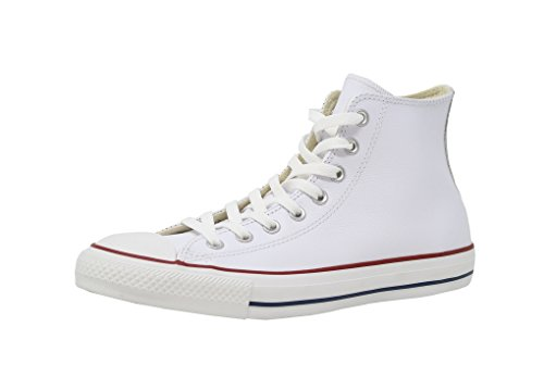 Chuck Taylor Leather High Tops - Converse Chuck Taylor All Star Leather High Top Shoe, white, 10 M US
