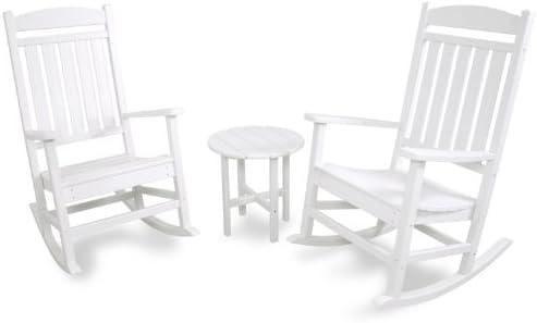Ivy Terrace IVS112-1-WH Classics 3-Piece Rocker Seating Set, White