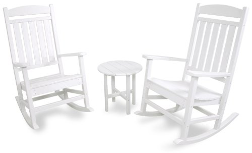 Ivy Terrace IVS112-1-WH Classics 3-Piece Rocker Seating Set, White