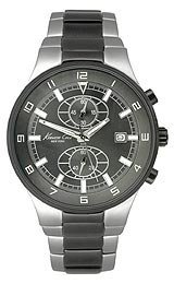 Kenneth Cole New York Mens Chronograph Two Tone Black IP Stainless Steel Bracelet Watch KC9088