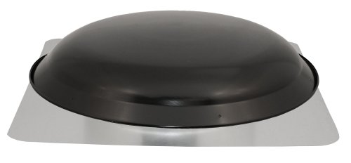Cool Attic CX2001AMBL Power Attic Roof Mount Ventilator with 60-Hz Motor and Steel Flange, Black Galvanized Steel Dome