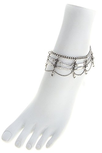 trendy-fashion-jewelry-filigree-chain-drape-anklet-by-fashion-destination-antique-silver