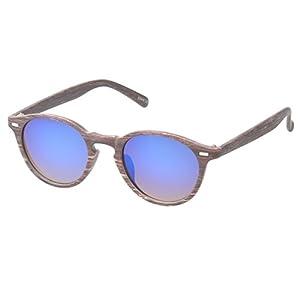MLC Eyewear 'Nashville' Round Fashion Sunglasses in Brown