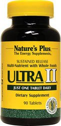 Natures Plus Ultra II Multivitamin - 90 Vegetarian Tablets, Sustained Release - Daily Vitamin & Mineral Supplement for Overall Health, Energy Booster - 90 Servings from Nature's Plus